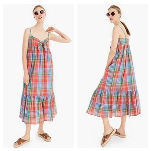 J. Crew Cotton Voile Beach Dress in Retro Plaid
